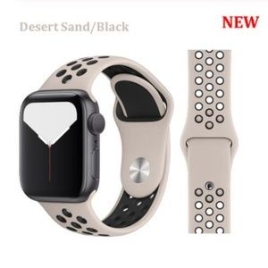 ❤️NEW Sand Black Sport Band For Apple Watch